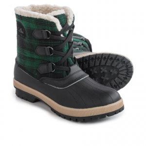 khombu telluride winter boots - insulated, fleece lined (for women)- Save 32% Off - CLOSEOUTS . Cozy winter style and toasty ThermoLiteand#174; insulation join forces in Khombuand#39;s Telluride winter boots, offering a classic look in leather and plaid flannel, complete with fuzzy-plush Berber fleece lining. Available Colors: PURPLE, HOUNDSTOOTH, RED PLAID, GREEN PLAID. Sizes: 6, 7, 8, 9, 10, 11.