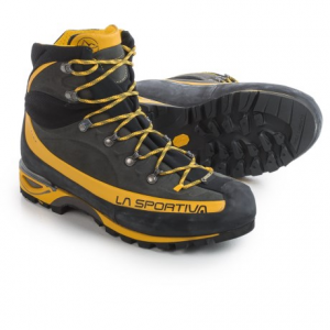 la sportiva gore-tex(r) trango alp evo mountaineering boots - waterproof, idro-perwanger(r) leather (for men)- Save 38% Off - CLOSEOUTS . Supremely well-equipped to tackle spring and summer alpine ascents with finesse, La Sportivaand#39;s Gore-Texand#174; Trango Alp Evo mountaineering boots feature a durable, silicone-impregnated leather upper backed by a waterproof Gore-Texand#174; Performance Comfort lining that offers a breathable climate-controlled foot environment. When it comes to comfort and protection on rolling approaches and rocky ascents, a tough, lightweight composite shank paves the way with stiff, rock-steady arch support, and the gusseted tongue is touch-fasten adjustable for those days when your feet need a little more room. Available Colors: GREY/YELLOW. Sizes: 39, 40, 40.5, 41, 41.5, 42, 42.5, 43, 43.5, 44, 44.5, 45, 45.5, 46, 46.5, 47, 47.5, 48, 38, 39.5, 38.5, 36, 36.5.