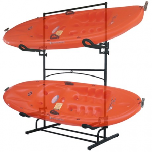 sparehand malibu plus kayak rack- Save 44% Off - CLOSEOUTS . Sparehandand#39;s Malibu Plus kayak rack has a dual-sided design that holds kayaks or other water sport equipment. The free-standing design has two pairs of cradles for storing two kayaks and is expandable to up to five boats depending on size and weight. Available Colors: SEE PHOTO.