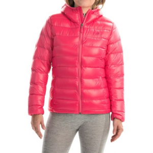 adidas outdoor light down jacket - hooded (for women)- Save 66% Off - CLOSEOUTS . Unpredictable weather ahead? Pack adidas outdoorand#39;s Light jacket into its own pocket and toss it in your bag for hooded, at-the-ready warmth when you need it. Genuine down insulation is incredibly light and warm, and the super-smooth, water-repellent nylon shell has a touch of shine for style. Available Colors: FROZEN BLUE, SUPER PINK, ICE GREEN, RAW PINK, UTILITY IVY. Sizes: S, M, L, XS, XL.