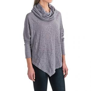 Image of allen allen Angled Hem Cowl Neck Shirt - Long Sleeve (For Women)