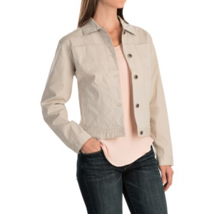 woolrich laurel run jacket (for women)- Save 62% Off - CLOSEOUTS . Woolrichand#39;s Laurel Run jacket boasts classic denim jacket styling and wears well with virtually anything in your warm weather wardrobe. The chambray-lined cuffs look extra cute when rolled up. Available Colors: HARBOR, STONE. Sizes: XS, S, M, L, XL, 2XL.