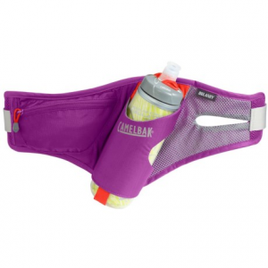 camelbak delaney run belt with chill bottle - 21 fl.oz.- Save 37% Off - CLOSEOUTS . CamelBakand#39;s Delaney run belt is ideal for shorter road or trail runs, with an insulated Podium Chill bottle with Jet Valve technology. Available Colors: LILAC/ TENDER SHOOTS, VIRTUAL PINK, OCEANSIDE/GUNMETAL, BLACK, PURPLE CACTUS FLOWER/GUNMETAL.