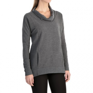lucy savasana cowl neck shirt - long sleeve (for women)- Save 48% Off - CLOSEOUTS . lucyand#39;s Savasana cowl neck shirt functions as a cozy standalone top thanks to its soft, breathable cotton blend that caresses your skin and hangs loosely. Or you can wear it as a layer after your workout for a little added warmth and extra coverage. Available Colors: LUCY NAVY, DOVE GREY HEATHER, FOSSIL HEATHER. Sizes: S, M, L, XL.