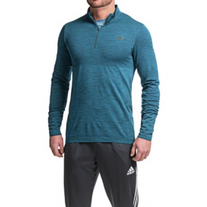 new balance m4m seamless shirt - zip neck, long sleeve (for men)- Save 57% Off - CLOSEOUTS . New Balanceand#39;s M4M Seamless shirt is truly andquot;Made for Movementandquot;, with a seamless body that reduces chafing. This zip neck shirt captures the bodyand#39;s heat and keeps you temperature regulated on chilly days. Available Colors: BLACK HEATHER, BARRACUDA, SEDONA HEATHER. Sizes: S, M, L, XL.