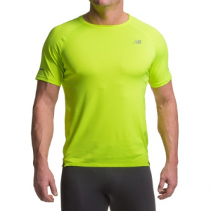 new balance precision run shirt - short sleeve (for men)- Save 52% Off - CLOSEOUTS . A short-sleeve workout shirt thatand#39;s impressively soft! New Balanceand#39;s Precision Run shirt features NB Dry moisture-wicking knit fabric, plus laser-cut perforations on the back provide extra ventilation, and NB Glow graphics keep you visible long after dark. Available Colors: TOXIC YELLOW. Sizes: S, M, L, XL, 2XL.