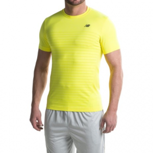 new balance m4m seamless shirt - short sleeve (for men)- Save 57% Off - CLOSEOUTS . New Balanceand#39;s M4M Seamless shirt is truly andquot;Made for Movementandquot;, with a seamless body that reduces irritation. A combination of NB Dry and NB Ice fabric technologies enhance breathability and keep you cool and comfortable during any workout. Available Colors: BLACK HEATHER, BRIGHT CHERRY HEATHER, FIREFLY HEATHER. Sizes: S, M, L, XL, 2XL.