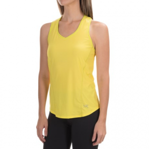 arc?teryx motus tank top - upf 25+, racerback (for women)- Save 49% Off - CLOSEOUTS . Designed for runners, Arcand#39;teryxand#39; Motus tank top is made from an ultralight performance polyester that pulls sweat away from your skin to dry quickly and keep you comfortable. The allover stretch and racerback cut further ensure full range of motion for any type of workout, from long trail runs to your favorite aerobics class at the gym. Available Colors: LEMON ZEST, PINK TULIP, RIPTIDE, SUMIRE. Sizes: L, M, S, XL, XS.