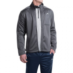 head glade heathered jacket (for men)- Save 44% Off - CLOSEOUTS . Headand#39;s Glade jacket is at home warming up on the tennis court or heading to the gym or the park for a workout. Heathered, sleeves and shoulder panels provide stylish accents, and the brushed fleece interior offers impressive warmth. Available Colors: CHARCOAL HEATHER, NINE IRON. Sizes: S, M, L, XL.