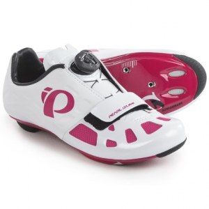 pearl izumi elite road iv cycling shoes - 3-hole (for women)- Save 50% Off - CLOSEOUTS . Pearl Izumi ELITE Road IV cycling shoes deliver efficient, elite-level performance at a great value and offer a great fit right out of the box. Theyand#39;re updated with a BOAand#174; IP-reel closure system and feature a super-stiff, full carbon sole with Direct-Vent technology to keep feet cool on hot rides. Available Colors: BLACK/PURPLE HAZE, WHITE/PINK PUNCH. Sizes: 40, 41, 39, 42, 38, 39.5, 37, 40.5, 41.5, 42.5, 36.5, 36, 38.5, 37.5.