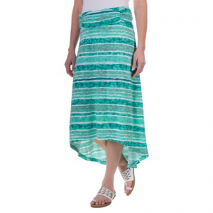 aventura clothing sunnyvale skirt - organic cotton-modal (for women)- Save 62% Off - CLOSEOUTS . Part hippie style, part on-trend fashion, Aventura Clothingand#39;s Sunnyvale skirt sports a tie-dye-inspired stripe and an eye-catching high-low hemline -- all done up in a silky, stretchy blend of organic cotton and modal. Available Colors: BLACK, SPICED CORAL, BLUE TURQUOISE. Sizes: XS, S, M, L, XL.