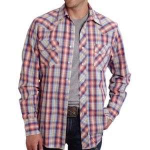 Image of Roper High-Performance Plaid Shirt - Snap Front, Long Sleeve (For Men)