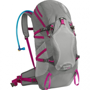 camelbak spire 22 lr hydration pack - 100 fl.oz. (for women)- Save 33% Off - CLOSEOUTS . CamelBakand#39;s Spire 22 LR hydration pack is a supportive alpine pack suitable for serious all-day missions. A suspended mesh back panel lets air circulate, and the lumbar reservoir keeps weight off your back and closer to the hips for improved stability on the trail. Available Colors: CHERRY TOMATO/SAMBA, GRAPHITE/BRIGHT FUCHSIA.