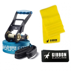 gibbon slacklines fitness slackline - 49?- Save 50% Off - CLOSEOUTS . An easy way to add slackline resistance training to your workout, Gibbon Slacklinesand#39; Fitness slackline features a simple two-piece setup with an easy-to-use ratchet and custom-designed, entry-level webbing. Available Colors: BLUE.