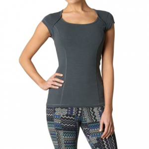 prana kamilia shirt - hemp-organic cotton, short sleeve (for women)- Save 50% Off - CLOSEOUTS . Made from a blend of naturally durable and breathable hemp and organic cotton, prAnaand#39;s Kamilia shirt is a beautiful, long-lasting and flattering top that fits right in, not only at yoga class but on comfy-casual days spent with family and friends, too! Available Colors: BLUEBELL FOSSIL, COAL, HARBOR BLUE. Sizes: 2XS, XS, S, M, L, XL.
