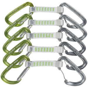 c.a.m.p. photon mixed express nylon quickdraws - 5-pack- Save 25% Off - CLOSEOUTS . Optimized for smooth clipping and easy cleaning, C.A.M.P.and#39;s Photon Mixed Express 11cm nylon quickdraw has a straight gate carabiner for bolts and a bent wire gate for the rope end. Available Colors: SEE PHOTO, GREEN/WHITE.