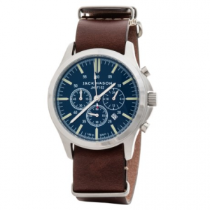 Image of Jack Mason Field Chronograph Watch with Leather Band - 42mm