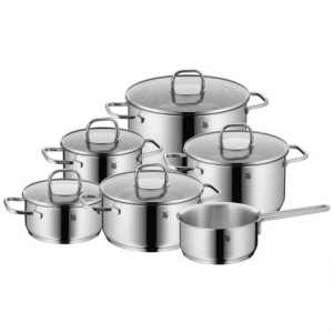 wmf inspiration cookware set - 11-piece- Save 68% Off - CLOSEOUTS . The WMF Inspiration cookware set inspires adventurous menus with a wide range of pot sizes. Made of sturdy, polished 18/10 stainless steel, the set includes glass lids that make it easy to view your dishes while they cook. Available Colors: STAINLESS STEEL.