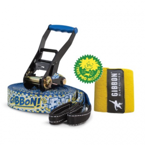 gibbon slacklines funline slackline with tree protection - 49?- Save 40% Off - CLOSEOUTS . A great option for beginners and kids, Gibbon Slacklines Funline slackline has a thick weave with a rubber-coated grip thatand#39;s perfect for learning. The set includes tree protection pads and a ratchet tensioner with soft padding. Available Colors: BLUE.