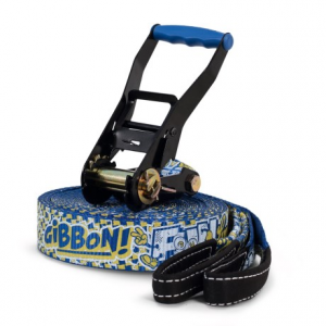 gibbon slacklines funline slackline - 49?- Save 44% Off - CLOSEOUTS . A great option for beginners and kids, Gibbon Slacklines Funline slackline has a thick weave with a rubber-coated grip thatand#39;s perfect for learning. The set includes a ratchet tensioner with safety lock and soft padding. Available Colors: BLUE.
