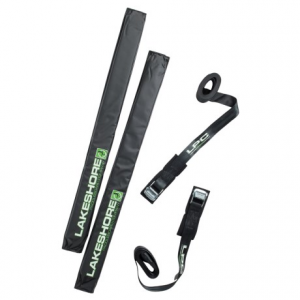 lakeshore paddleboard company sup car rack pads and straps kit- Save 33% Off - CLOSEOUTS . Lakeshore Paddleboard Companyand#39;s SUP car rack pads and straps kit fits on your car or SUVand#39;s roof rack and protects your stand-up paddle board during transport. Available Colors: SEE PHOTO.