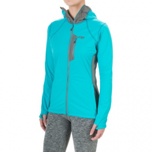 outdoor research centrifuge jacket (for women)- Save 61% Off - CLOSEOUTS . Outdoor Research's Centrifuge jacket is the ideal outer layer for alpine climbs or long runs in cold conditions. The front fabric is wind-resistant, hard-faced fleece, and the back, underarms and face panel are comprised of highly breathable Radiant LT fleece. Available Colors: BLUEBIRD/ATMOSPHERE, BLACK, MULBERRY/DESERT SUNRISE, BALTIC/TYPHOON, PEWTER/TYPHOON. Sizes: XXS, XS, S, M, L, XL, 2XL.