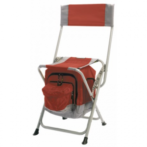 travelchair anywhere folding chair with cooler- Save 50% Off - CLOSEOUTS . Well, if this isnand#39;t just the greatest idea! TravelChairand#39;s Anywhere folding chair has an attached, insulated cooler under the seat that can hold up to six icy-cold cans of your favorite beverage, or provide a safe, cool space for snacks and sandwiches. Available Colors: RED, GREEN, BLUE, BLACK.