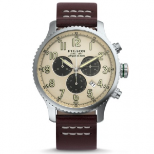 Image of Filson Mackinaw Chronograph Field Watch - 43mm, Leather Strap (For Men)