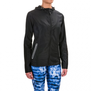mondetta color-blocked running jacket (for women)- Save 50% Off - CLOSEOUTS . The perfect top layer for not-so-chilly morning runs, the Mondetta color-blocked running jacket offers lightweight moisture-wicking construction, embroidered venting at the back and sleeves, and hourglass-shaped seams for a flattering fit. Available Colors: BLACK. Sizes: S, M, L, XL.
