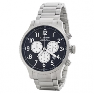 Image of Filson Mackinaw Chronograph Field Watch - 43mm, Polished Stainless Steel Band (For Men)