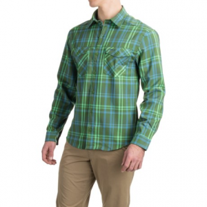 allen fly fishing exterus meridian shirt - upf 50+, long sleeve (for men)- Save 64% Off - CLOSEOUTS . This Allen Fly Fishing Exterus Meridian shirt shields your skin from harmful UV rays while youand#39;re out on the water and wicks moisture away quickly to keep you feeling dry and fresh all day. Four-way stretch allows you to cast freely and move without restriction. Available Colors: DARK MOSS GREEN, KHAKI BROWN. Sizes: S, M, 2XL, L, XL.