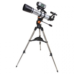 celestron skyscout scope 90 telescope- Save 46% Off - CLOSEOUTS . Get a close-up view of the night sky or distant land formations with Celestronand#39;s Skyscout Scope 90 telescope. Easy to set-up and designed with non-magnetic materials, it provides clear, crisp images. A 6x30 finderscope and rigid, stable tripod are included. Available Colors: SEE PHOTO.