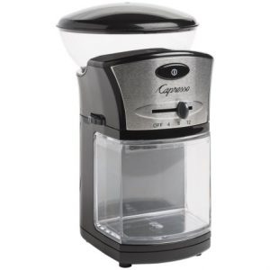 capresso disk burr coffee grinder- Save 30% Off - 2NDS . Perfect for grinding small batches of your favorite beans, Capressoand#39;s Disk Burr coffee grinder has 17 grind settings, an electronic timer and in an insulated safety lid to reduce noise. Available Colors: BLACK, BLACK/STAINLESS STEEL.