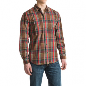 filson wildwood shirt - long sleeve (for men and big men)- Save 48% Off - CLOSEOUTS . Whether your work has you in the office or in the field, Filsonand#39;s Wildwood shirt is ruggedly constructed of prewashed cotton twill for feels-good softness against skin, plus it boasts a pleated back for ease of movement. Available Colors: LIGHT DESERT TAN/OLD BRICK, NAVY/CREAM, RED/GREEN/BROWN. Sizes: L, M, S, XL, XS, 2XL, 3XL.