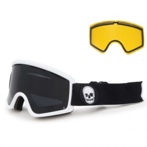 vonzipper cleaver ski goggles - extra lens- Save 50% Off - CLOSEOUTS . Dependable and functional, VonZipperand#39;s Cleaver ski goggles offer a strong, dual-cylindrical lens with extended peripheral vision, anti-fog coating and breathable top vents for a clear, wider field of view. The dual-adjustable strap and fleece-lined, triple-density face foam keep them snug and comfy over every mogul. Available Colors: BLACK SATIN/BLACKOUT, YAWGOONS WHITE SATIN/BLACKOUT.