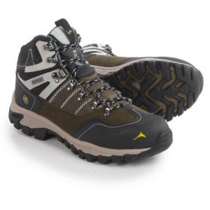 pacific mountain ascend mid hiking boots - waterproof (for men)- Save 50% Off - CLOSEOUTS . Climb to new heights with the stable, well-cushioned design of Pacific Mountainand#39;s Ascend Mid hiking boots. The waterproof breathable upper features toe and heel reinforcements and a stabilizing steel shank to accompany the cushy memory-foam insole. Available Colors: STEEL GRAY/BLACK/LAVA, MIDNIGHT NAVY/BLACK/FREESIA, DARK OLIVE/BLACK/DOVE. Sizes: 7, 7.5, 8, 8.5, 9, 9.5, 10, 10.5, 11, 11.5, 12, 13.