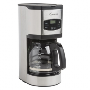 capresso sg120 12-cup coffee maker- Save 47% Off - CLOSEOUTS . Get the maximum flavor from fresh-brewed coffee with Capressoand#39;s SG120 coffee maker, beautifully designed with a stainless steel-wrapped housing. A special andquot;Aromaandquot; setting slows down the brewing process to maximize flavor when youand#39;re brewing a full 12-cup pot. Available Colors: BLACK/STAINLESS STEEL.