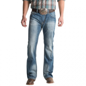 Image of Rock and Roll Cowboy Double Barrel Jeans - Abstract Pocket (For Men)