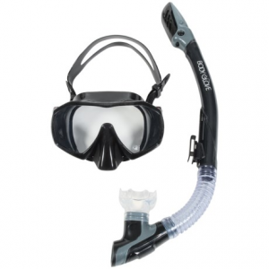 body glove ignite purge snorkel and mask set (for men and women)- Save 40% Off - CLOSEOUTS . Upgrade from that ever-used rental to Body Gloveand#39;s Ignite Purge snorkel and mask set, a professional-grade design with strong, flexible silicone and upgrades like a water purge system, submersible dry top and splash guards. Tempered glass lenses meet all ANSI standards and provide the best visual clarity underwater. Available Colors: BLACK. Sizes: G.