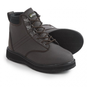 compass 360 stillwater wading boots - felt outsole (for men)- Save 40% Off - Overstock . The lightweight felt outsole of these Compass 360 Stillwater wading boots provides excellent traction over all types of pebbled, rocky and sandy shorelines. The heavy-duty nylon upper and soft fabric lining are designed to dry quickly for comfort in wet conditions. Available Colors: BROWN. Sizes: 7, 8, 9, 10, 11, 12, 13.