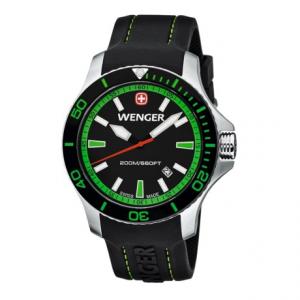 Image of Wenger Seaforce Swiss Quartz Watch - 43mm, Rubber Strap