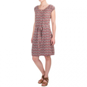aventura clothing castella dress - organic cotton-modal, short sleeve (for women)- Save 65% Off - CLOSEOUTS . Stylish enough for work and comfortable enough for play, Aventura Clothingand#39;s Castella dress is made of organic cotton and modal jersey, and adds pizazz to your look with the fun zigzag print and faux-wrap front. Available Colors: DECO ROSE. Sizes: XS, S, M, L, XL, 2XL.