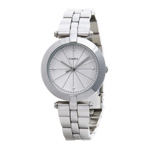Image of Timex Greenwich Silver-Tone Watch - Stainless Steel Bracelet (For Women)