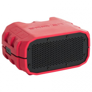 braven brv-1s bluetooth(r) speaker - waterproof- Save 50% Off - CLOSEOUTS . With the Braven BRV-1S Bluetoothand#174; speaker, you can take your music with you -- as far afield as you can imagine -- in a shockproof, waterproof package. It has 14 hours of playing time, a rechargeable lithium-ion battery and an IPX7-certified rubber exterior for optimal protection from the bumps and scrapes of outdoor fun. Available Colors: BLACK/BLACK, GRAYWOLFGRAY/DARKGRAY, FIRERED/GRAY.