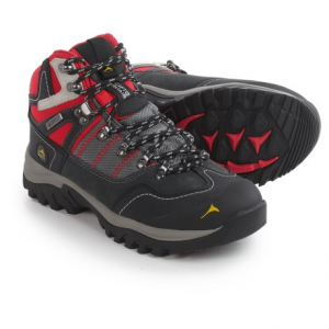 pacific mountain ascend mid hiking boots - waterproof (for women)- Save 50% Off - CLOSEOUTS . Climb to new heights with the stable, well-cushioned design of Pacific Mountainand#39;s Ascend mid hiking boots. The waterproof breathable upper features toe and heel reinforcements and a stabilizing steel shank to accompany the cushy memory-foam insole. Available Colors: GUNMETAL/BLACK/CABBAGE, GUNMETAL/LAVA/BLACK. Sizes: 6, 6.5, 7, 7.5, 8, 8.5, 9, 9.5, 10.