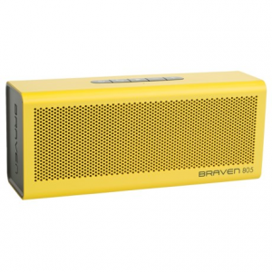 braven 805 portable wireless bluetooth(r) speaker- Save 50% Off - CLOSEOUTS . Just 9-1/2 inches long and four inches tall, the Braven 805 portable wireless Bluetoothand#174; speaker delivers huge sound in loud living rooms and on patio decks for up to 18 hours of fun. Use your phone, a tablet or a sound system, and connect to another Braven speaker for a true stereo experience -- this speaker brings your music to life! Available Colors: BLACK/BLACK, GRAY/BLACK, ORANGE/GRAY, RED/GRAY, TEAL/GRAY, WHITE/LIGHT GRAY, YELLOW/GRAY.