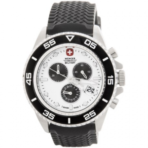 Image of Wenger Basel Chronograph 43mm Watch - Rubber Strap