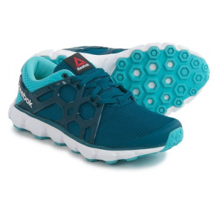reebok hexaffect run 4.0 mtm running shoes (for women)- Save 53% Off - CLOSEOUTS .   Long-run worthy, Reebokand#39;s Hexaffect Run 4.0 MTM running shoes offer a lightweight, breathable mesh upper with an integrated MicroWeb tech lacing system for enhanced support. The Memory Tech Massage sockliner cushions away road impact, and the carbon rubber outsole with Hexaffect nodes targets lasting traction at key contact points. Available Colors: NOBLE BLUE/CRISP BLUE. Sizes: 7, 7.5, 8, 8.5, 9.