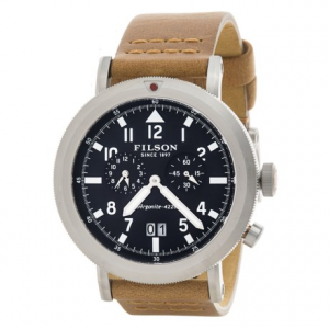 Image of Filson Scout Dual Time Watch - 45.5mm, Leather Band (For Men)