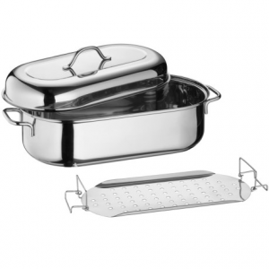 kuchenprofi stainless steel fish poacher- Save 19% Off - Overstock . Ideal for induction cooking of fish, vegetables and roasts, this stainless steel fish poacher is durably crafted and includes a removable lifting rack and lid. Available Colors: STAINLESS STEEL.